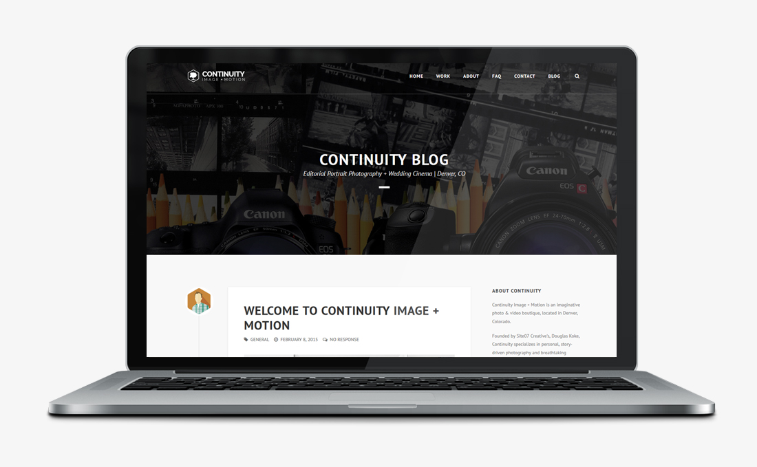 Contintuity Image | Web Design + Branding | Denver, CO