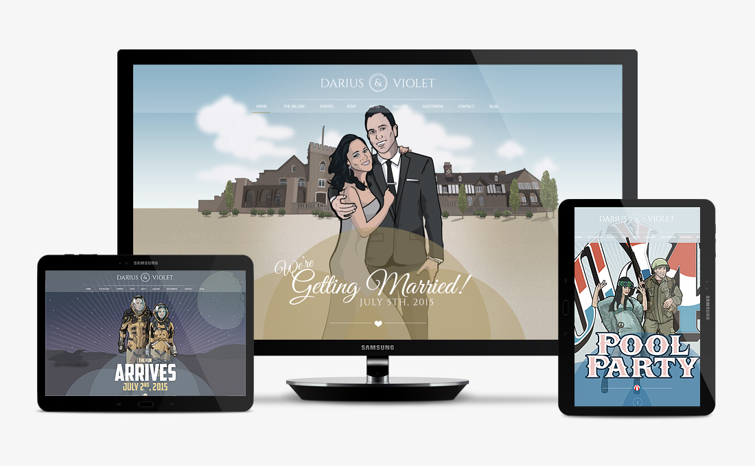 Darius and Violet | Web Design